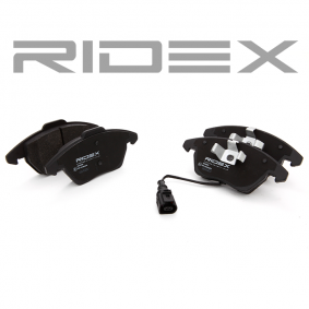 Brake Pad Set, disc brake Front Axle from manufacturer RIDEX 402B0009 up to - 70% off!
