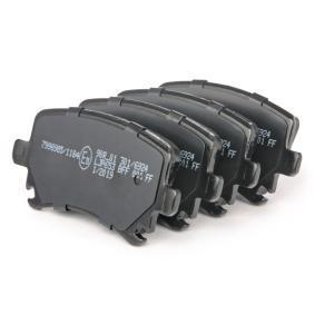 Bremsbelagsatz, Scheibenbremse Hinterachse von hersteller RIDEX 402B0010 bis zu - 70% Rabatt!