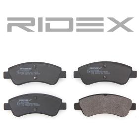 RIDEX Bremsbelagsatz, Scheibenbremse 4059191313495
