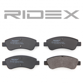 RIDEX 402B0049 Brake Pad Set, disc brake OEM - E172124 CITROËN, PEUGEOT, PIAGGIO, CITROËN/PEUGEOT, TVR, CITROËN (DF-PSA), NPS, WEEN, PARTS-MALL, DS, EUROREPAR cheaply