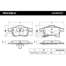 RIDEX Jogo de pastilhas para travão de disco 4059191313686