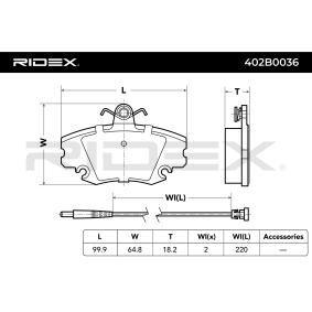 RIDEX Bremssteine 402B0036
