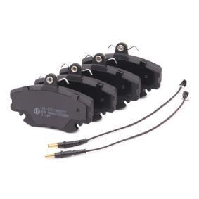 RIDEX Bremsbelagsatz Scheibenbremse (402B0036)