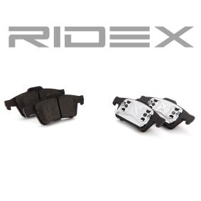 fékbetét készlet, tárcsafék hátsótengely a gyártótól RIDEX 402B0145 akár - 70% kedvezmény!