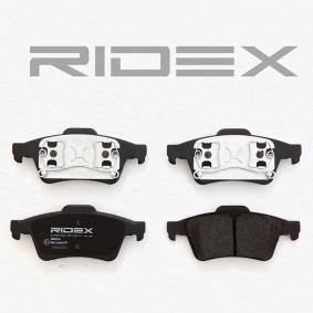 RIDEX Bromsbeläggssats, skivbroms Bakaxel 4059191313891 rating