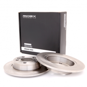 RIDEX Bremsscheibe Hinterachse, Ø: 268mm, Voll 82B0020 in Original Qualität