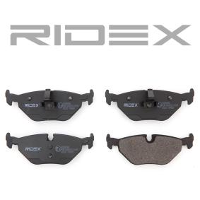 RIDEX 402B0088 Bremsbelagsatz, Scheibenbremse OEM - 34211164501 BMW, CITROËN, MG, ROVER, ALPINA, MINI, VAICO, A.B.S., BMW (BRILLIANCE), VEMA, OEMparts günstig