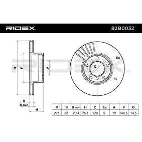 RIDEX Bremsscheibe 82B0032