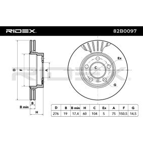 RIDEX Bremsscheibe (82B0097) niedriger Preis