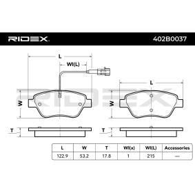 FIAT STILO 1.4 16V 95 CV año de fabricación 01.2004 - Cuerpo de mariposa (402B0037) RIDEX Tienda online