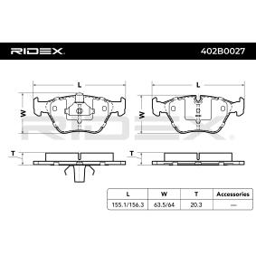 RIDEX Bremsbelagsatz, Scheibenbremse (402B0027) niedriger Preis