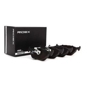 RIDEX 402B0026 Bremsbelagsatz, Scheibenbremse OEM - 34216761281 BMW, FORD, ROVER, SAAB, ATE, BILSTEIN, ALPINA, MINI, VAICO, A.B.S., MASTER-SPORT GERMANY, OEMparts günstig