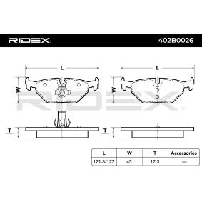 RIDEX Bremsbelagsatz Scheibenbremse (402B0026)