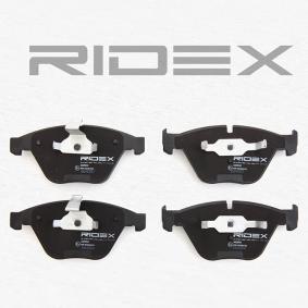 RIDEX 402B0061 Bremsbelagsatz, Scheibenbremse OEM - 34116794916 BMW, BILSTEIN, SWAG, BMW (BRILLIANCE), OEMparts günstig