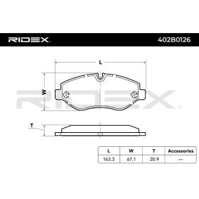 RIDEX Bremssteine 402B0126