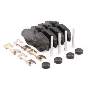 RIDEX Bremsbelagsatz Scheibenbremse (402B0126)