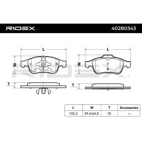 RIDEX Brake pad set (402B0343)