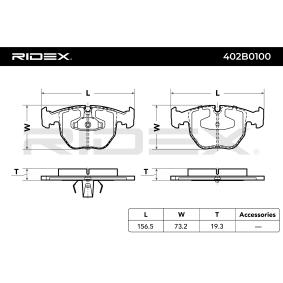 RIDEX Bremssteine 402B0100