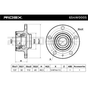 RIDEX Radlagersatz 654W0005