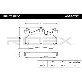 RIDEX Set placute frana, frana disc (402B0137)