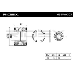RIDEX Jogo de rolamentos de roda Eixo traseiro 4059191319619 classificação