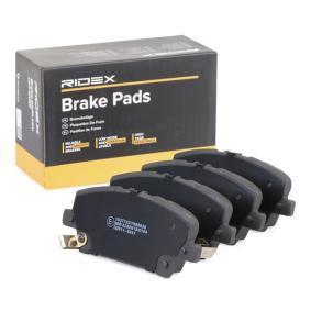 CIVIC VIII Hatchback (FN, FK) RIDEX Brake pad set disc brake 402B0152