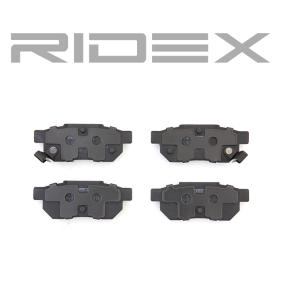 RIDEX Комплект спирачно феродо, дискови спирачки 402B0094