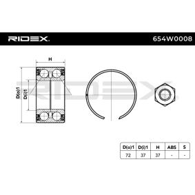 RIDEX Buje de rueda 654W0008