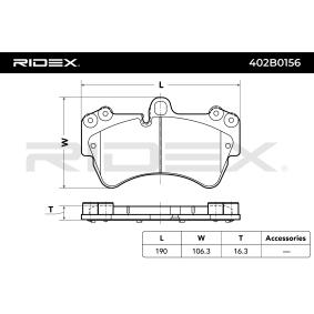 RIDEX Set placute frana, frana disc 402B0156
