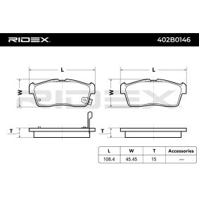 RIDEX Bremssteine 402B0146