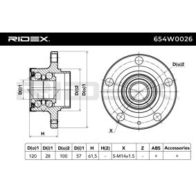 RIDEX SEAT IBIZA Cojinete de rueda (654W0026)