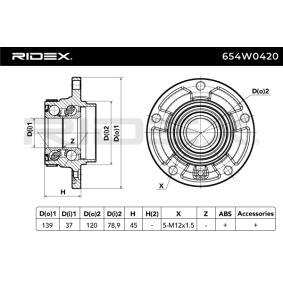 RIDEX Radlager 654W0420
