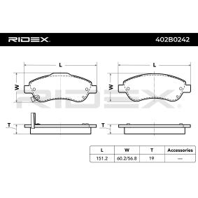 RIDEX Pastilla de freno 402B0242