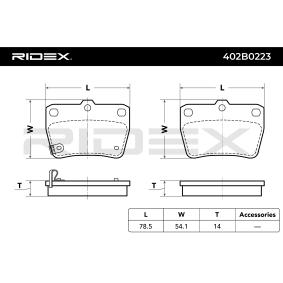 RIDEX Brake pads 402B0223