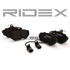 AUDI A4 (8E2, B6) RIDEX Bremsbeläge 402B0083 bestellen