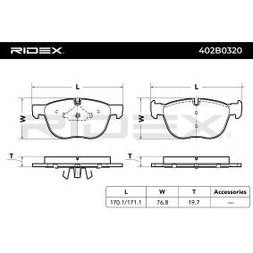 Tapón de dilatación Art. No: 402B0320 fabricante RIDEX para BMW X5 a buen precio