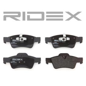 RIDEX Комплект спирачно феродо, дискови спирачки 402B0354
