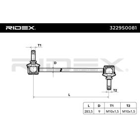 Koppelstange RIDEX (3229S0081) für RENAULT MEGANE Preise