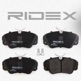 RIDEX 402B0153 Bremsbelagsatz, Scheibenbremse OEM - 9195077 OPEL, SAAB, VAUXHALL, CHEVROLET, RELIANCE, MINTEX, GENERAL MOTORS, HOLDEN, LRT, A.B.S., TRUCKTEC AUTOMOTIVE günstig