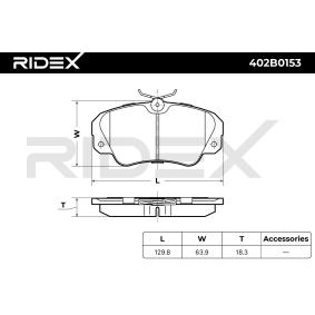RIDEX Bremsbelagsatz, Scheibenbremse (402B0153) niedriger Preis