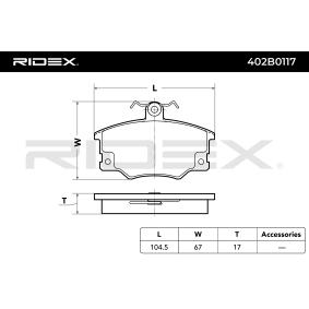 RIDEX Brake pads 402B0117