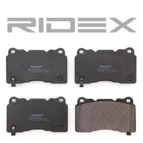 RIDEX Bremssteine 402B0476