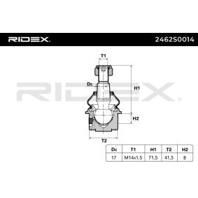 Rótula de suspensión carga 2462S0014 RIDEX