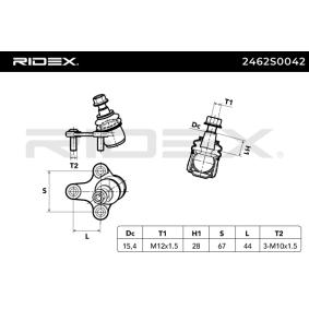 Носеща / управляваща щанга RIDEX (2462S0042) за VW GOLF Цени