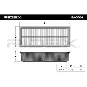 RIDEX Luftfilter 1K0129620D für VW, AUDI, SKODA, SEAT, PORSCHE bestellen