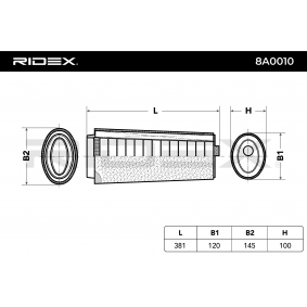 Luftfilter RIDEX (8A0010) für BMW 3er Preise