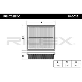 Luftfiltereinsatz 8A0018 RIDEX