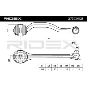RIDEX 273C0021 Barra oscilante, suspensión de ruedas OEM - 2303301711 MERCEDES-BENZ, A.B.S., OEMparts a buen precio