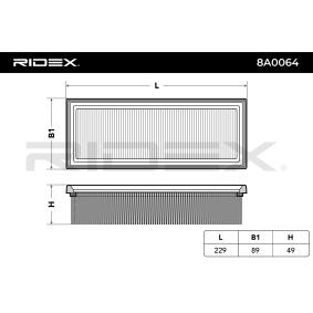 RIDEX Luftfilter 7759323 für FORD, FIAT, ALFA ROMEO, LANCIA, IVECO bestellen