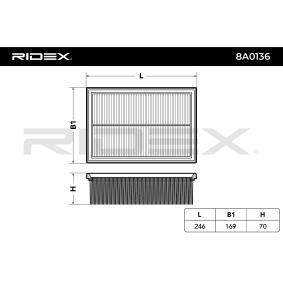 Vzduchovy filtr 8A0136 RIDEX